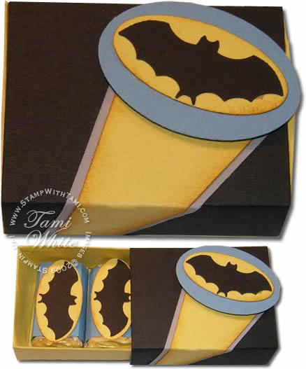 VIDEO TUTORIAL Batman Box U0026 Card U2013 100th Video Stampin