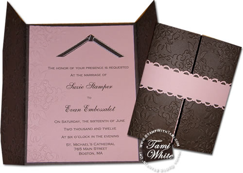 Partial Impressions Emboss Wedding Invitations