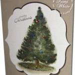 VIDEO TUTORIAL: Watercolor Christmas Tree with Colored Rhinestones