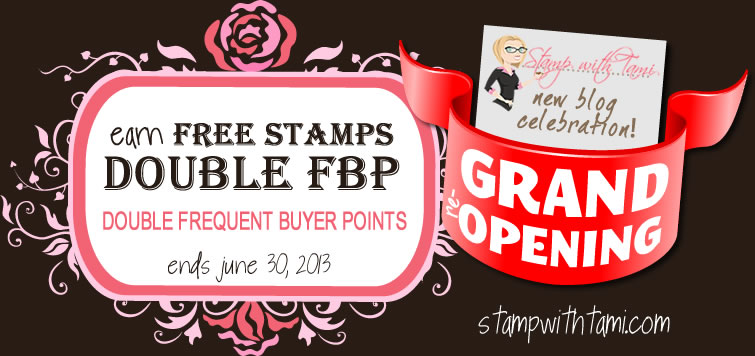 stampin up double points-blog grand opening