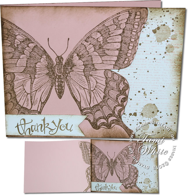 swallowtail grunge - stampin up-combo