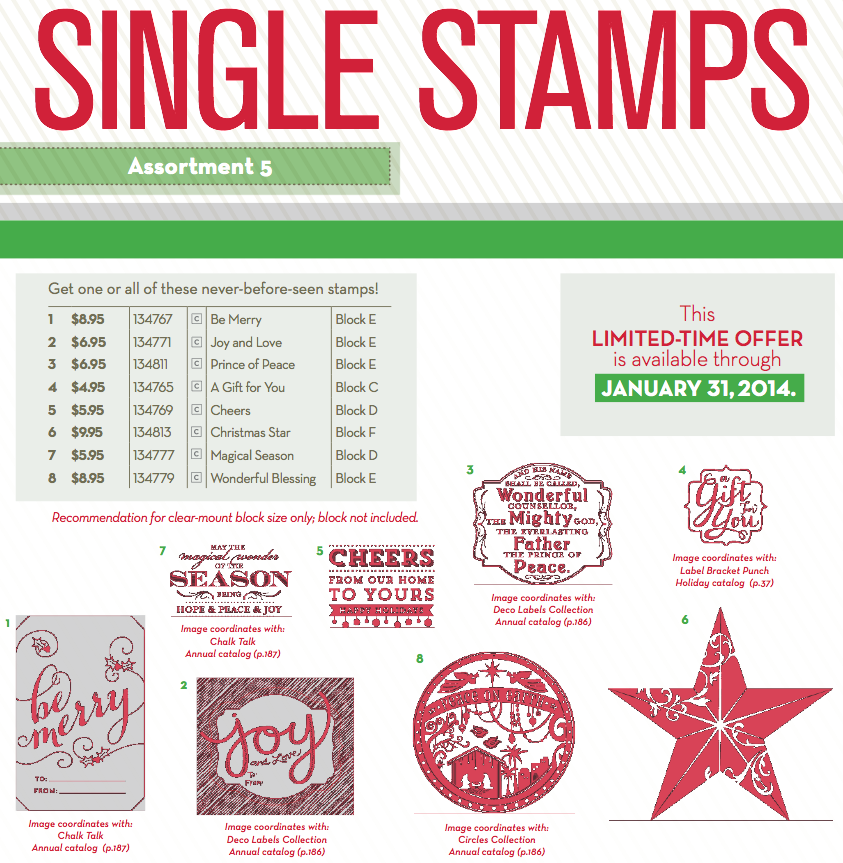 2013-08 single stamps from stampin up