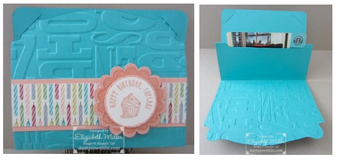 CARD: Cool Pop 'n Cuts Gift Card Holder | Stampin Up Demonstrator ...
