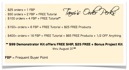 stampin up ordering specials