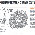 NEW: Bite Me Photopolymer clear stamp set for Halloween
