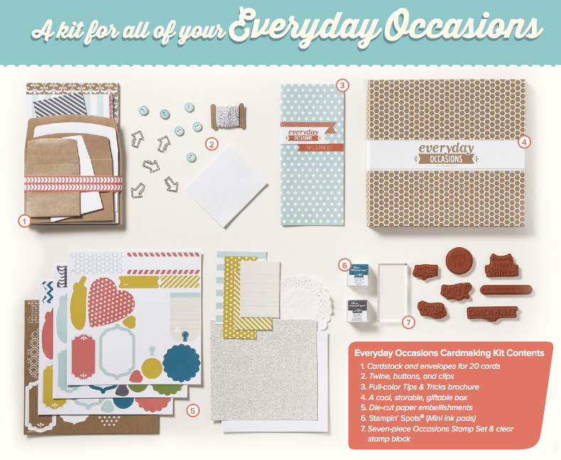 stampin up everyday occasions kit
