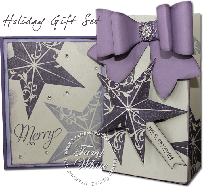 christmas star gift set-stampin up
