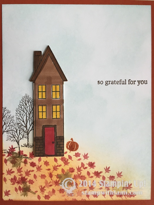 Card So Grateful For You From Holiday Home Stampin Up