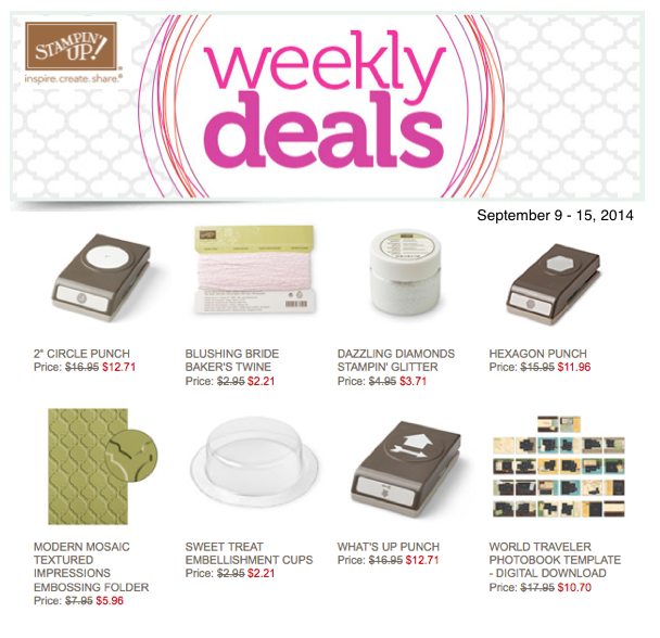 stampin up weekly specials and deals
