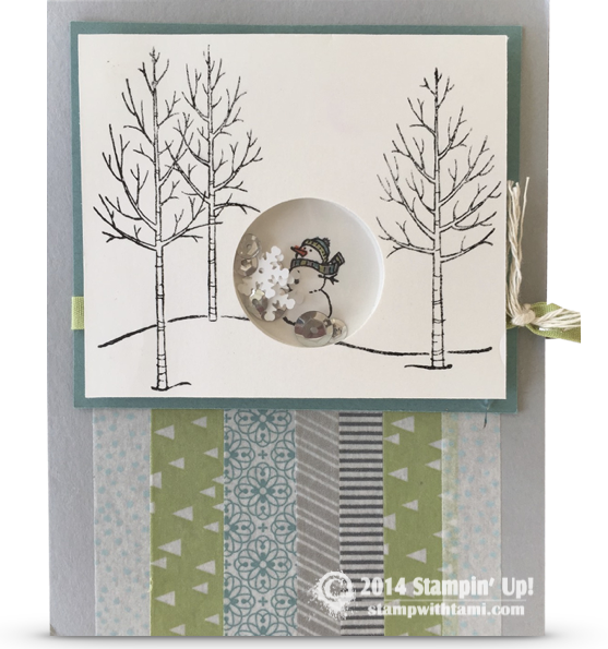 CARD: White Christmas Snowman Shaker Card | Stampin Up Demonstrator ...