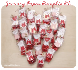 january stampin up paper pumpkin valentine