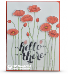 stampin up pleasant poppies card
