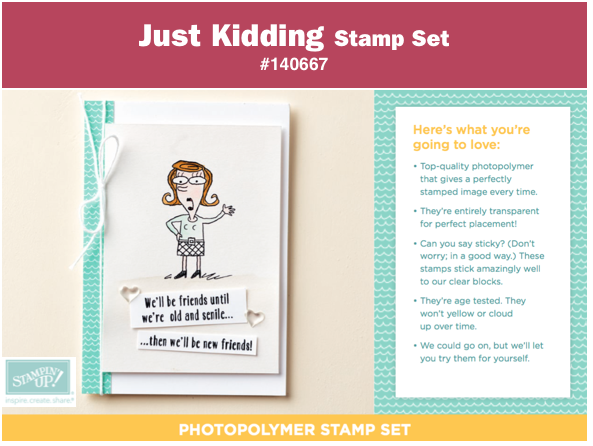 stampin up just kidding stamp set