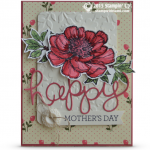 bloom with hope stampin up mothers day card
