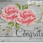 stippled blossoms stampin up wedding card