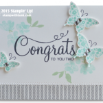 your perfect day stampin up card