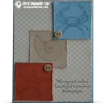 stampin up by the seashore card