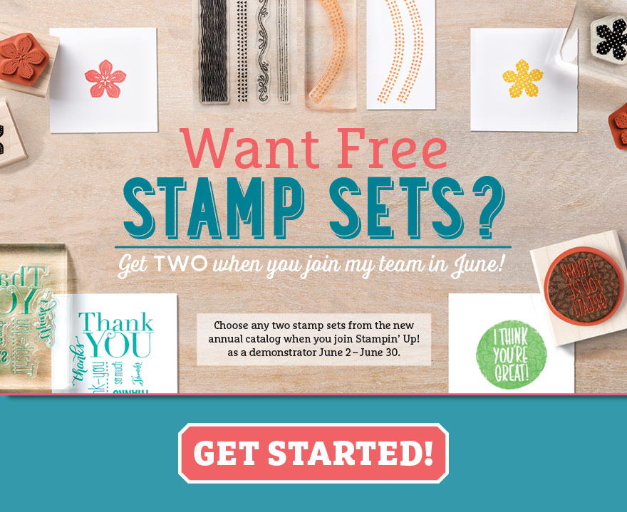 get 2 free stampin up stamp sets when you join stampin up