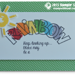 over the rainbow stampin up card