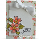 stampin up birthday blossoms stamp set card