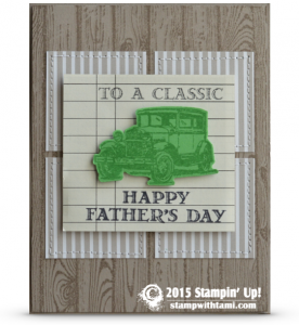 stampin up guy greeetins classic car card