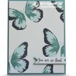 stampin up watercolor wings stamp set card