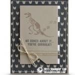stampinup no bones stamp set card