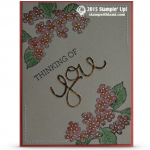 birthday blossoms stampin up stamp st