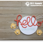 stampin up wood panels card