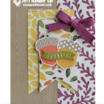 stampin up acorny thank you