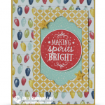 stampin up among the brandches stamp set card