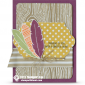stampin up cheer all year feathers card