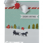 stampin up home for christmas stamp set card