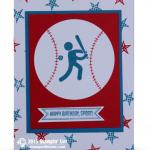 stampin up simply sports card baseball