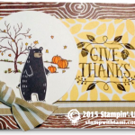 stampin up thankful forest friends holiday catalog card