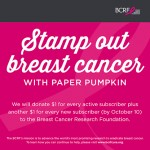 NEWS: Stamp Out Breast Cancer with Paper Pumpkin ends October 10