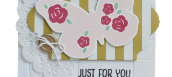 CARD: Floral Wings – Just for You Card