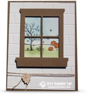 stampin up happy scenes window