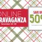 SALE: 50% OFF Online Extravaganza Begins on Monday