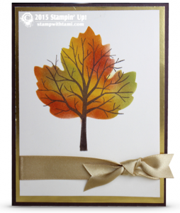 stampin up sheltering tree fall