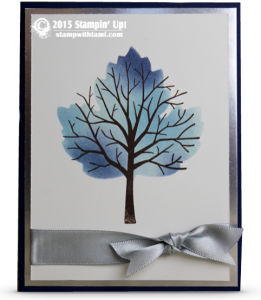 stampin up sheltering tree winter