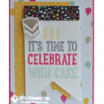 CARD: Time to Celebrate with Cake Birthday Card