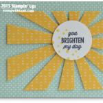 CARD: You Brighten My Day Sunburst