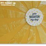 CARD: Sunburst Sayings Wow Sunshine Card