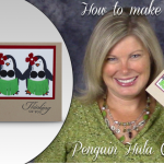 VIDEO: Penguin Hula Card complete with Grass Skirts