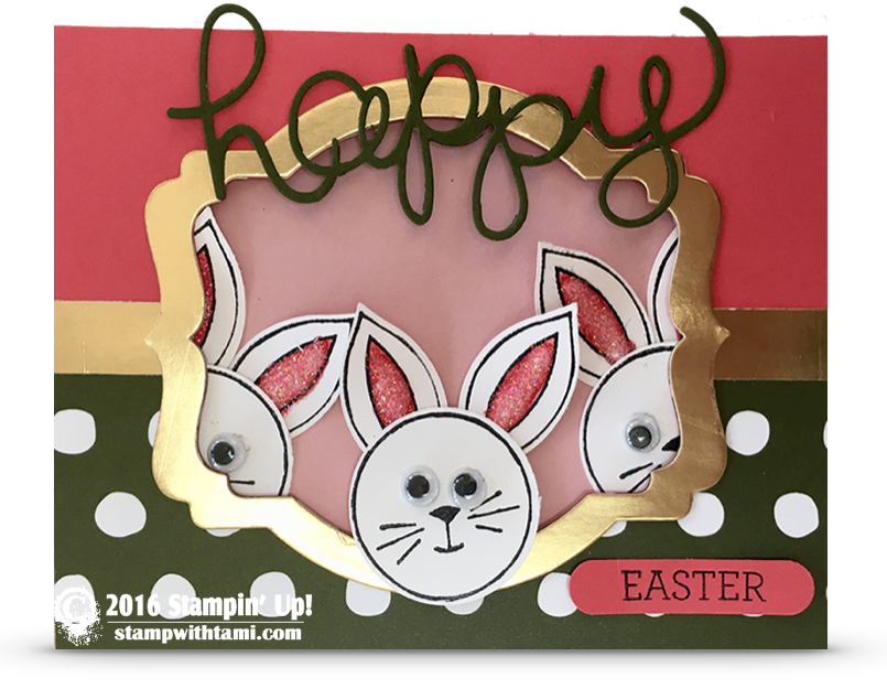 stampin up photobombing easter bunnies card
