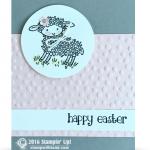 CARD: Mary had an Happy Easter Lamb