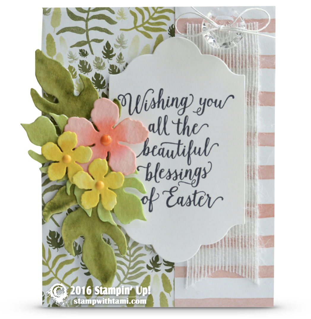 CARD Wishing You All the Beautiful Blessings of Easter – Easter Cards Stampin Up