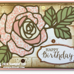 """CARD: Rose Wonder """"Stained Glass"""" Birthday Beauty Wow Card"""