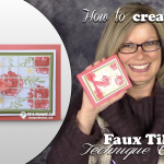 VIDEO: How to make a Faux Ceramic Tile Card